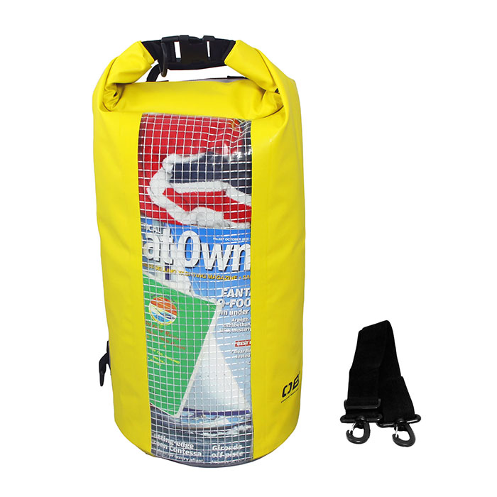 Водонепроницаемая сумка OverBoard OB1057Y - Waterproof Dry Tube Bag with Window - 20L. Фото 2