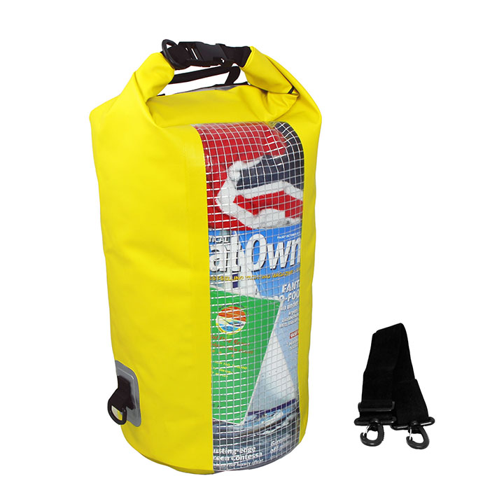 Водонепроницаемая сумка OverBoard OB1057Y - Waterproof Dry Tube Bag with Window - 20L. Фото 3