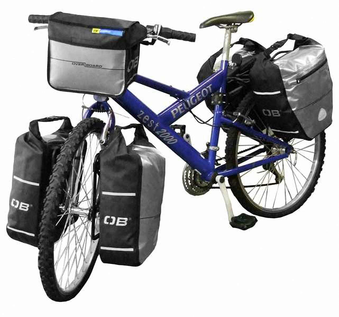 Водонепроницаемая сумка OverBoard OB1076BLK - Waterproof Front Wheel Bike Pannier - 12L. Фото 4