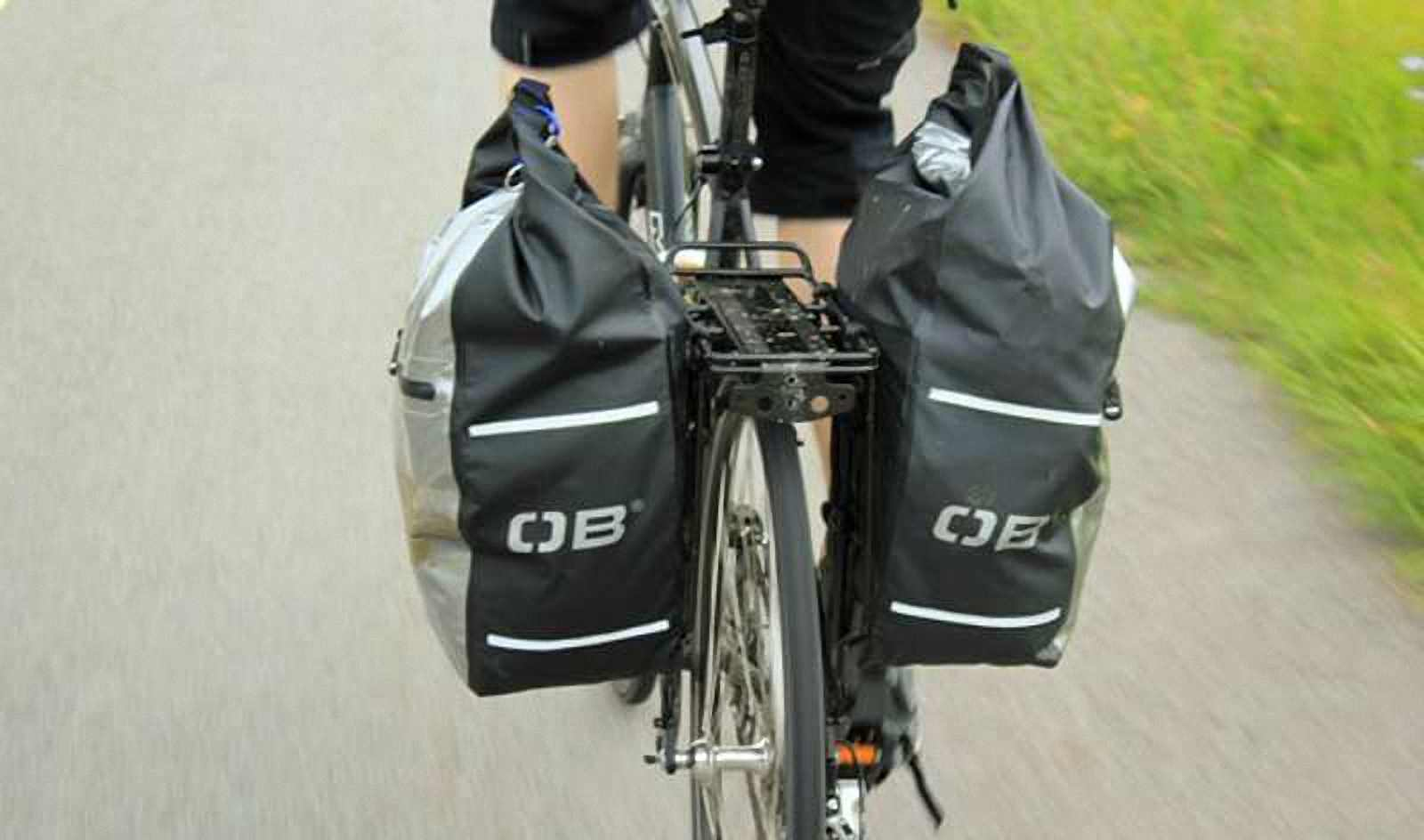 Водонепроницаемая сумка OverBoard OB1077BLK - Waterproof Back Wheel Bike Pannier - 16L. Фото 8