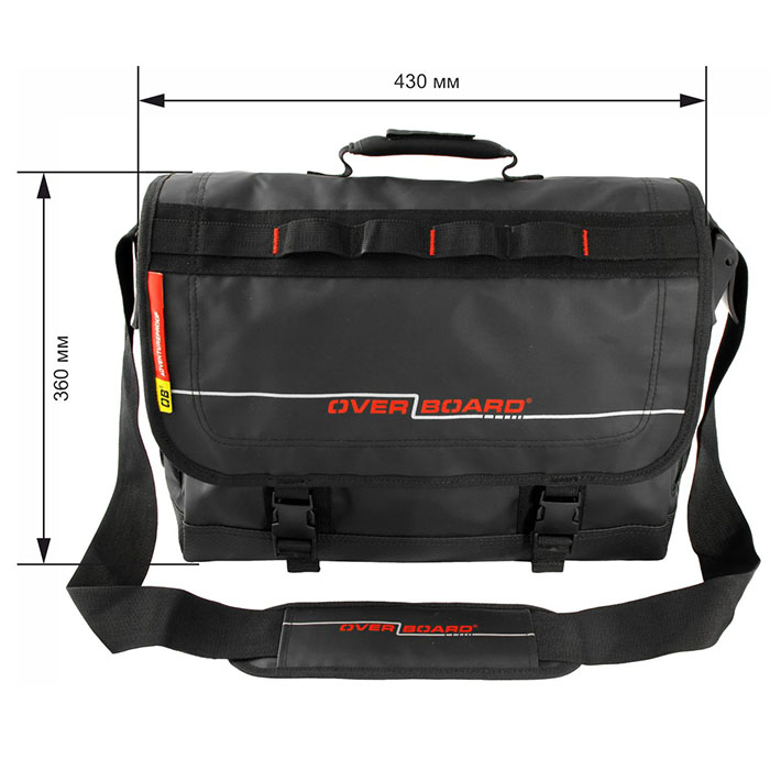 Водонепроницаемая сумка OverBoard OB1079BLK - Waterproof Adventure Messenger Bag. Фото 1