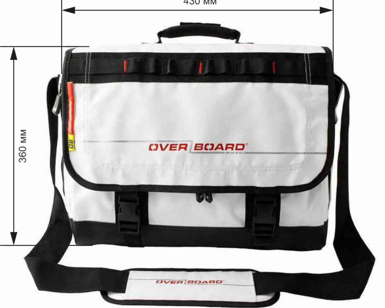 Водонепроницаемая сумка OverBoard OB1079WHT - Waterproof Adventure Messenger Bag (White) Фото 1