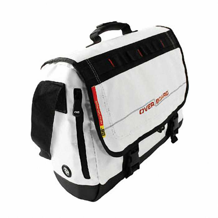 Водонепроницаемая сумка OverBoard OB1079WHT - Waterproof Adventure Messenger Bag (White) Фото 2