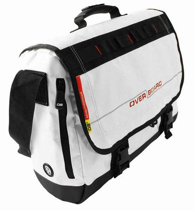 Водонепроницаемая сумка OverBoard OB1079WHT - Waterproof Adventure Messenger Bag (White) Фото 4