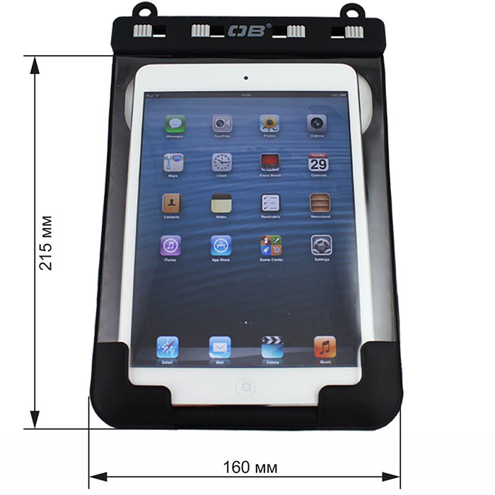 Водонепроницаемый чехол OverBoard OB1083BLK - Waterproof iPad Mini Case with shoulder strap. Фото 1