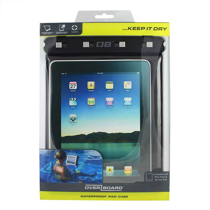 Водонепроницаемый чехол OverBoard OB1086BLK - Waterproof iPad Case with Shoulder Strap (Black) Фото 5