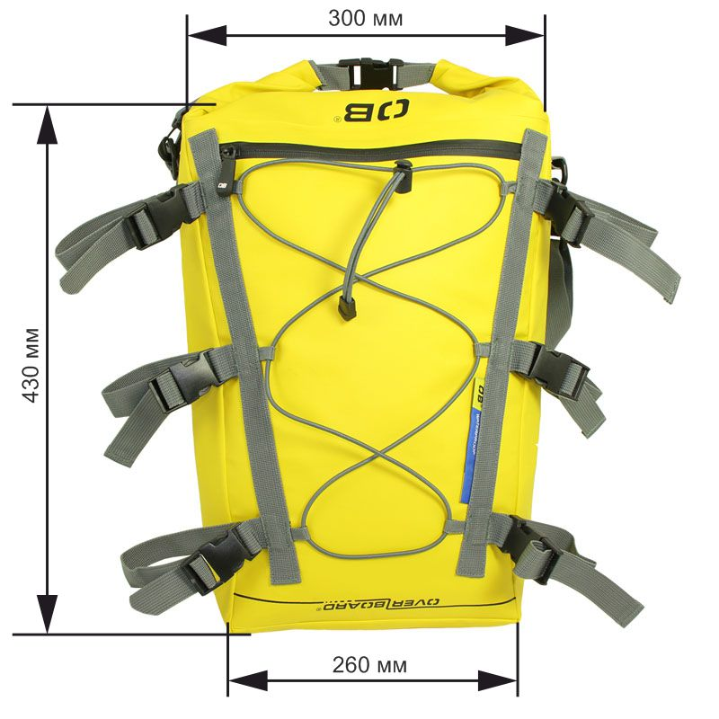 Водонепроницаемая сумка OverBoard OB1094Y - Waterproof Kayak Deck Bag - 20L (Yellow) Фото 1