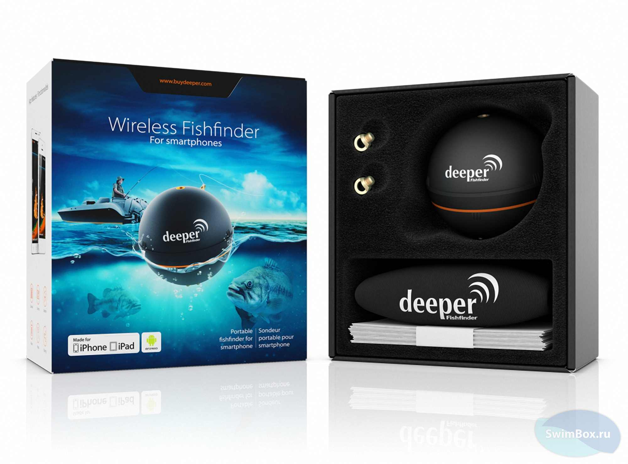 Эхолот Deeper Smart Fishfinder + Aquapac 350 Фото 4