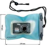 Водонепроницаемый чехол Aquapac 414 - Small Camera Case ((Light Blue)