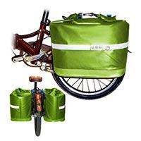Водонепроницаемая сумка-корзина с креплением к багажнику велосипеда Pacific Outdoor Equipment / Wxtex Cool Co-op Pannier Apple 28L.