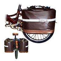 Водонепроницаемая сумка-корзина с креплением к багажнику велосипеда Pacific Outdoor Equipment / Wxtex Cool Co-op Pannier Chocolate 28L.