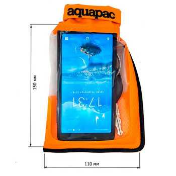 Водонепроницаемый чехол Aquapac 035 - Small Stormproof Phone Case Orange.