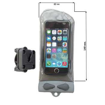 Водонепроницаемый чехол Aquapac 110 - Mini Bike-Mounted Phone Case (Cool Grey)