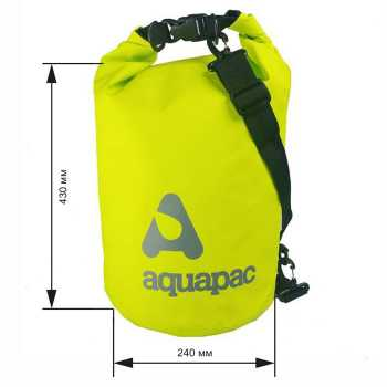 Водонепроницаемый гермомешок (с плечевым ремнем) Aquapac 733 - TrailProof™ Drybag – 15L with shoulder strap.