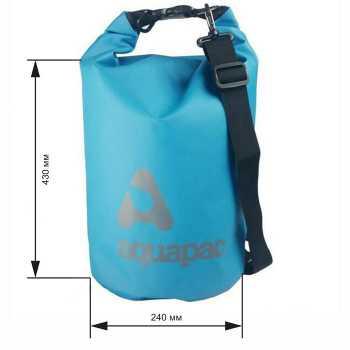 Водонепроницаемый гермомешок (с плечевым ремнем) Aquapac 734 - TrailProof™ Drybag – 15L with shoulder strap.