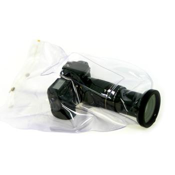Универсальная прозрачная накидка для зеркальных (SLR) фотокамер, в том числе с выдвижным объективом.