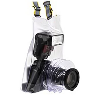 Универсальная прозрачная накидка, защита от дождя для зеркальной (SLR) фотокамеры и внешней вспышки.