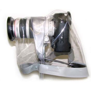 Универсальная прозрачная накидка для зеркальных (SLR) фотокамер с выдвижным объективом 300-500 мм.