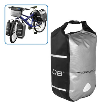 Водонепроницаемая сумка OverBoard OB1076BLK - Waterproof Front Wheel Bike Pannier - 12L.