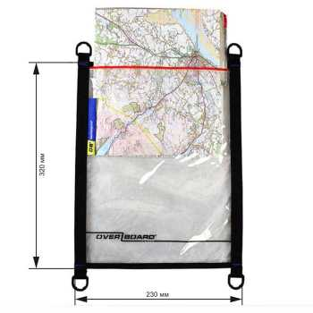 Водонепроницаемый чехол OverBoard OB1105BLK - Waterproof Map / Document Pouch - Large (Black)