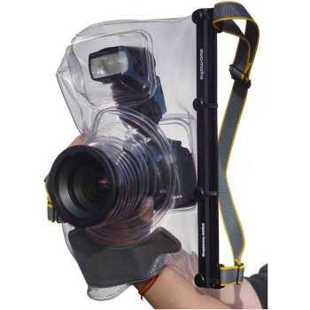 Водонепроницаемый, универсальный герметичный мягкий бокс Ewa-Marine U-BFXZ100 для подводной фото-видео съёмки.