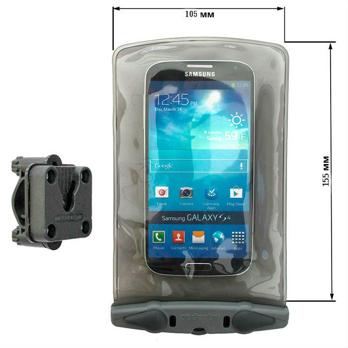 Водонепроницаемый чехол Aquapac 350 - Small Bike-Mounted Phone Case (Cool Grey)