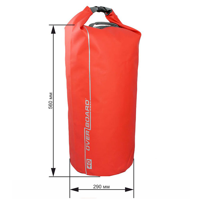 Водонепроницаемая сумка OverBoard OB1007R - Waterproof Dry Tube Bag - 40L.