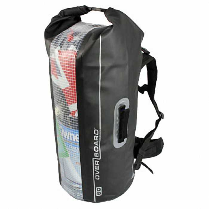 Водонепроницаемый рюкзак OverBoard OB1056BLK - Waterproof Backpack Dry Tube with Window - 60L.
