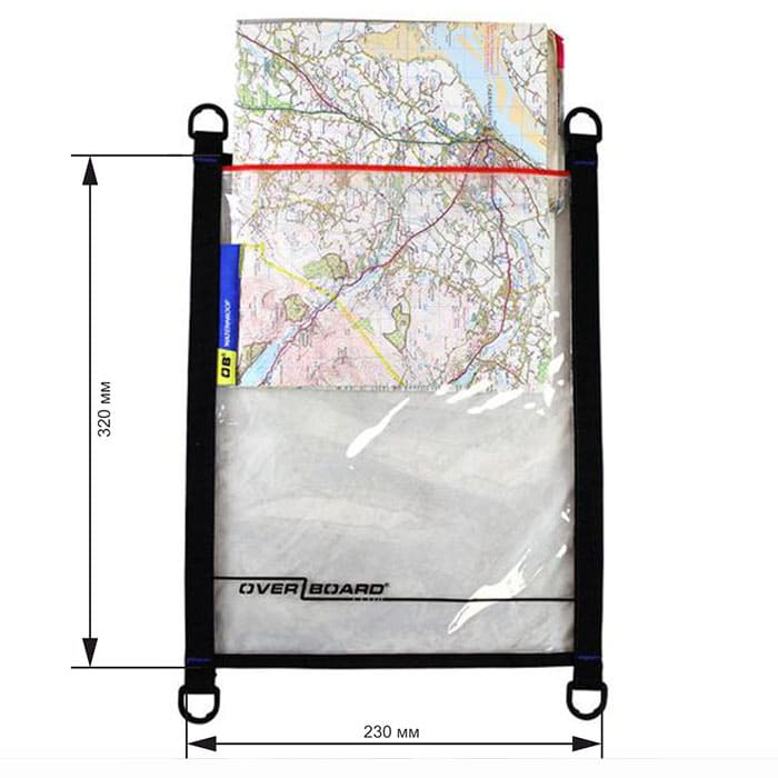Водонепроницаемый чехол OverBoard OB1081BLK - Waterproof Map Pouch.