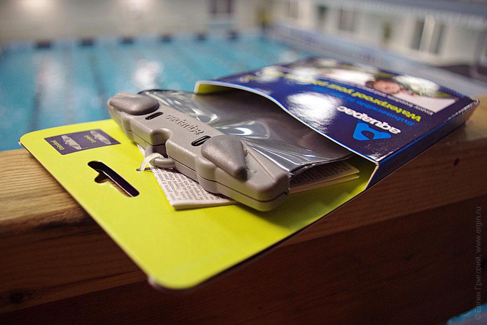Зажимы на водозащитном чехле аквапаке