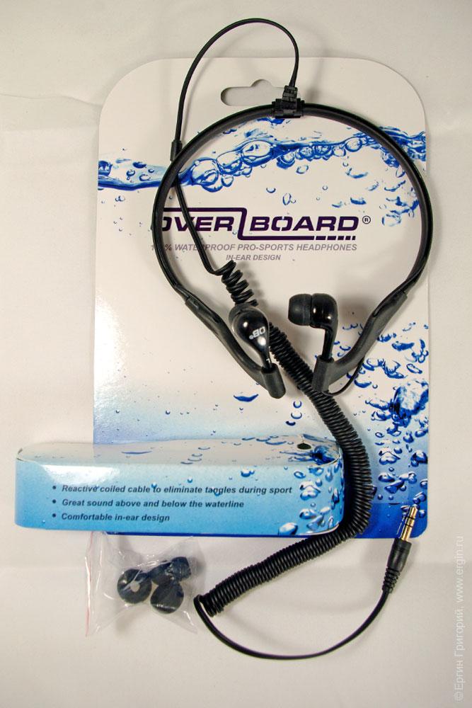 Герметичные наушники OverBoard OB1063BLK без упаковки