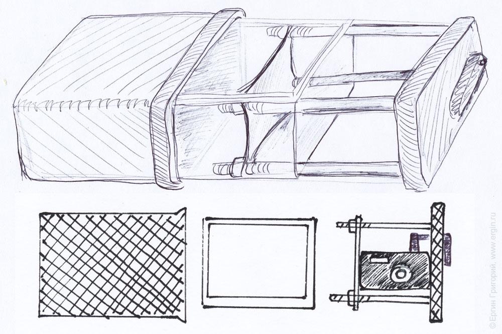 Camera Shield - универсальный жесткий подводный бокс для цифрового фотоаппарата